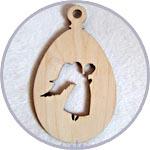 Яйцо из тонкой фанеры с ангелом - заготовка для пасхального декора купить