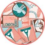 Бумага Декопатч почтовые марки
