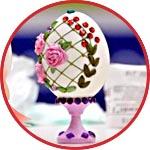 Яйцо на подставке, пасхальный декор