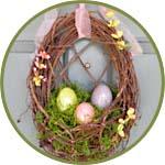 Пасхальный декор - яйца в корзине
