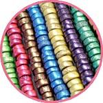 Перламутровые бусины из пластики с добавлением пигментов Pearl Ex
