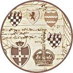 Рисовая салфетка для декупажа манускрипт с коронами