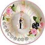 Свадебный веночек-топиарий