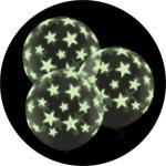 Прозрачные шары со светящимися звездами