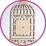 Заготовка для часов - птичья клетка купить