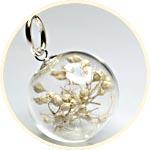 Свадебная композиция в прозрачном шаре