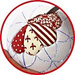 Елочный шар в технике кинусайга