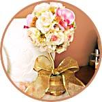 Мастер-класс: топиарий свадебный с розами