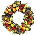 Рождественский венок с фруктами