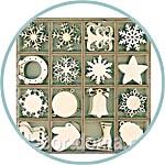 Новогодний набор фанерных фигурок-чипбордов купить