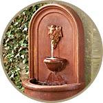 Настенный фонтан - итальянский декор
