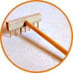 Мини-грабли деревянные