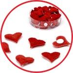 Сердечки стикеры бархатные