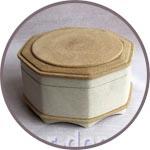 Шкатулка папье-маше восьмиугольная с панно