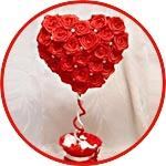 Топиарий-сердце, пожелание любви