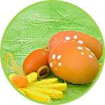 Сизаль - подложка для пасхальных яиц