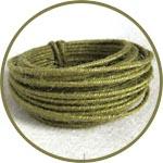 Проволока в джутовой обмотке, 3 мм, цвет зеленый оливковый