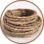 Проволока в джутовой обмотке, 3-4 мм, цвет природный