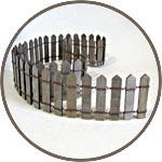 Забор деревянный длинный, 5,5 см, цвет серо-коричневый
