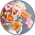 Маки, цветы из папиросной бумаги