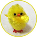 Цыпленок миниатюрный для декора