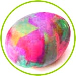 Яйцо, декор папиросной бумагой
