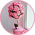 Розовый топиарий