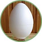 Пенопластовое яйцо - заготовка для декора
