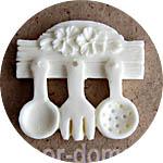 Пластиковый декор, накладка, чипборд Кухонные принадлежности