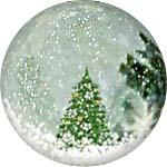 Новогодний прозрачный шар с блестками