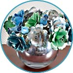 Зеркальная вазочка для цветов