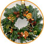 Венок рождественский с кружочками апельсина