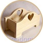 Кашпо - ящик для цветов деревянный