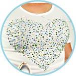 Декор футболки контуром перлен пен