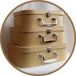 Набор из 3 картонных чемоданов - заготовка для декорирования