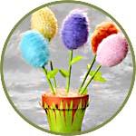Пенопластовые яйца - декор