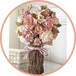 Букет-топиарий из роз
