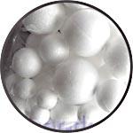 Набор-ассорти пенопластовых шариков разного диаметра