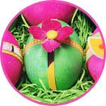 Украшение пасхальных яиц цветами