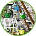 Декор садовый, лейки