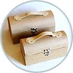 Заготовки для декора - картонные саквояжи