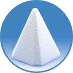 Заготовка для декора - пирамида из пенопласта