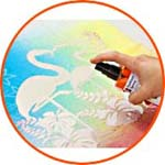Marabu Fashion Spray нанесение рисунка