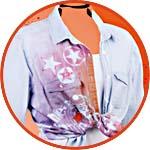 Декор куртки красками Marabu Fashion Spray