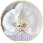 Орхидея - цветок из ткани