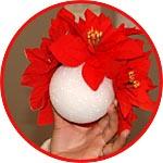 Пенопластовый шар - заготовка для деревца-топиария