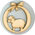 Шарик на елку, овечка