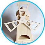 Предмет для декора - деревянный чайный домик-мельница