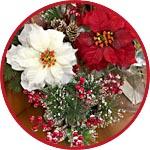 Цветы из ткани для новогодних композиций купить