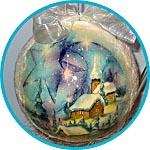 Прозрачный пластиковый шар. Новогодний декупаж.